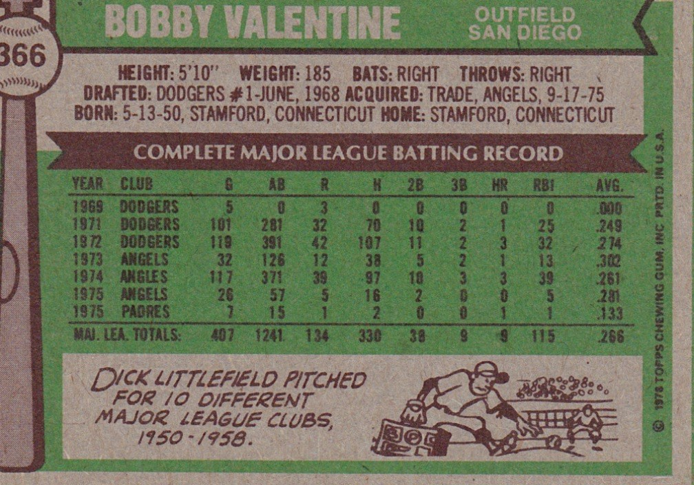 Bobby Valentine Fun Facts