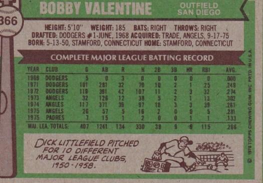 Bobby Valentine Fun Facts