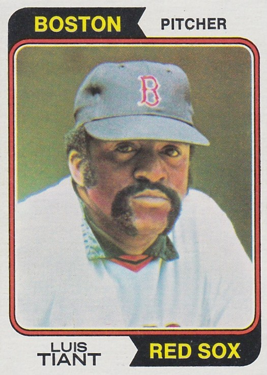 Luis Tiant Pitcher for the Boston Red Sox 1975 Baseball card